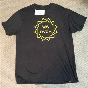 RVCA Mens Gray Tee by PM Tenore